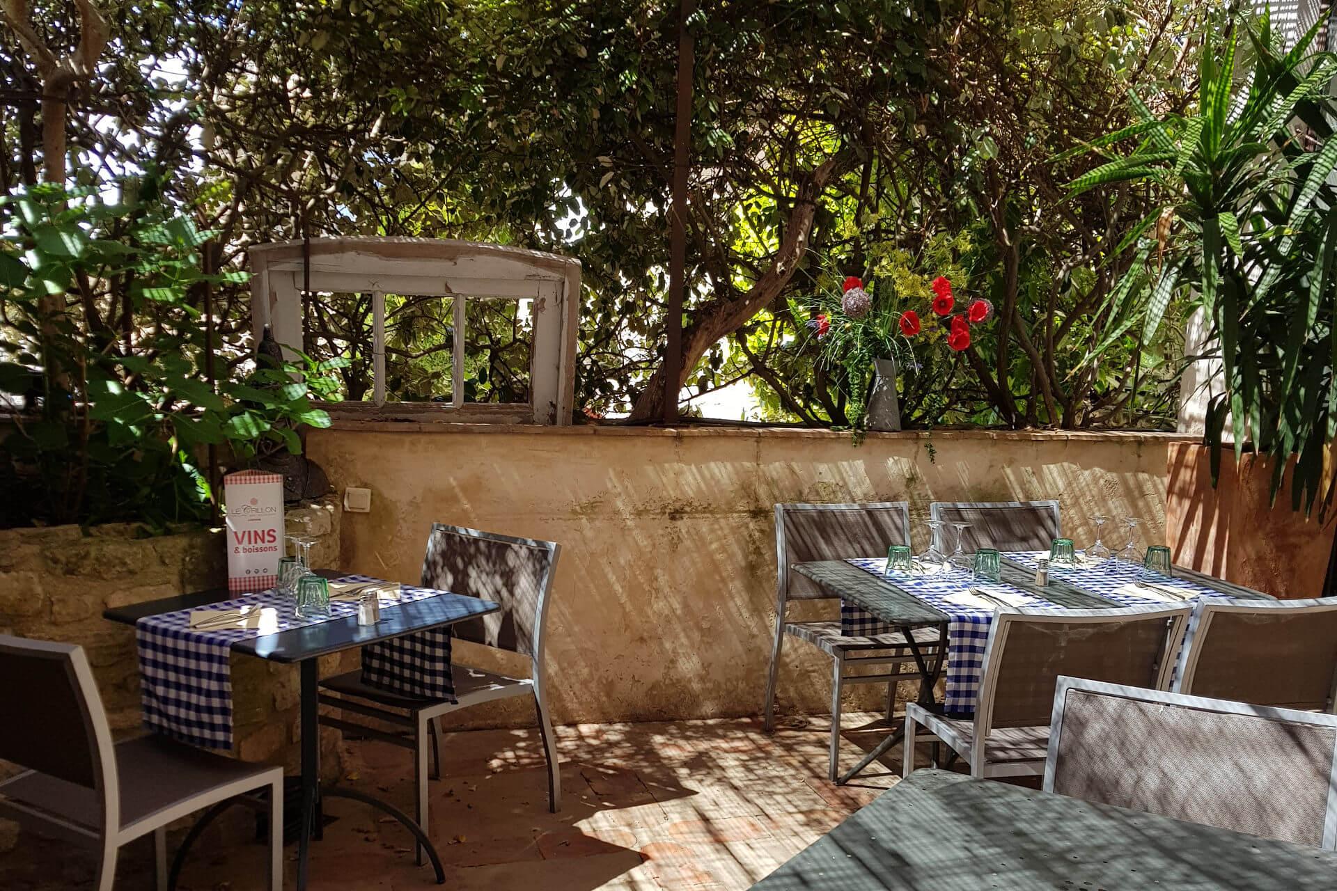 terrasse restaurant murs